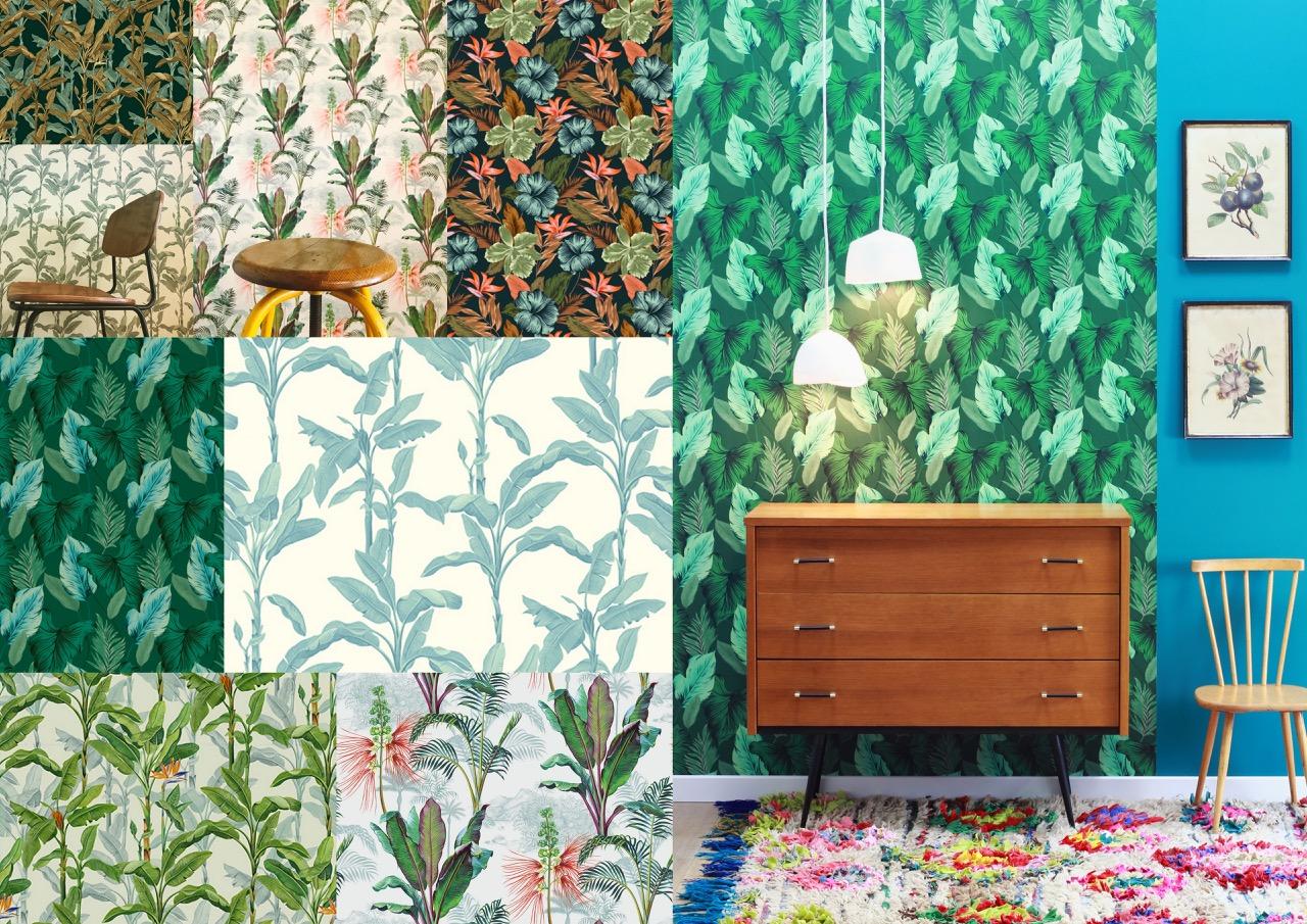 deco,papier peint,exotique,déco tropical,tropical,le presse papier,inspiration