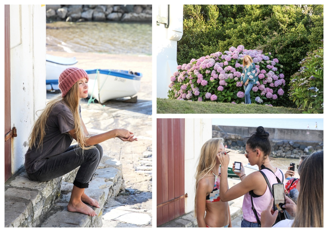 billabong,billabong womens europe,sans and sea,fall,mode,behind the scenes,photo shooting,katrina parker,biarritz,guéthary,surfer,surf culture,surfer girl