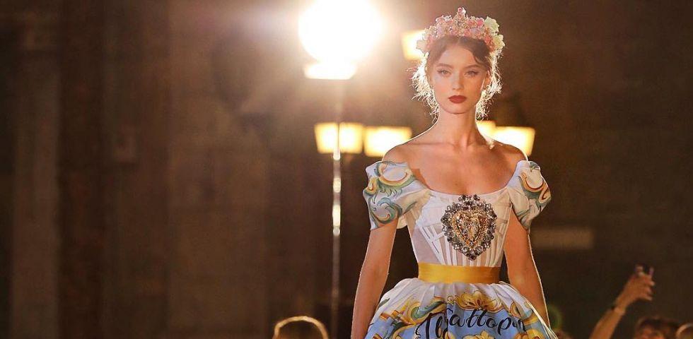 dolce gabbana,palerme,défilé,alta moda,haute couture,sicile,italie,baroque,grand siècle,le parrain,folklore sicilien,mode,haute joaillerie,joaillerie
