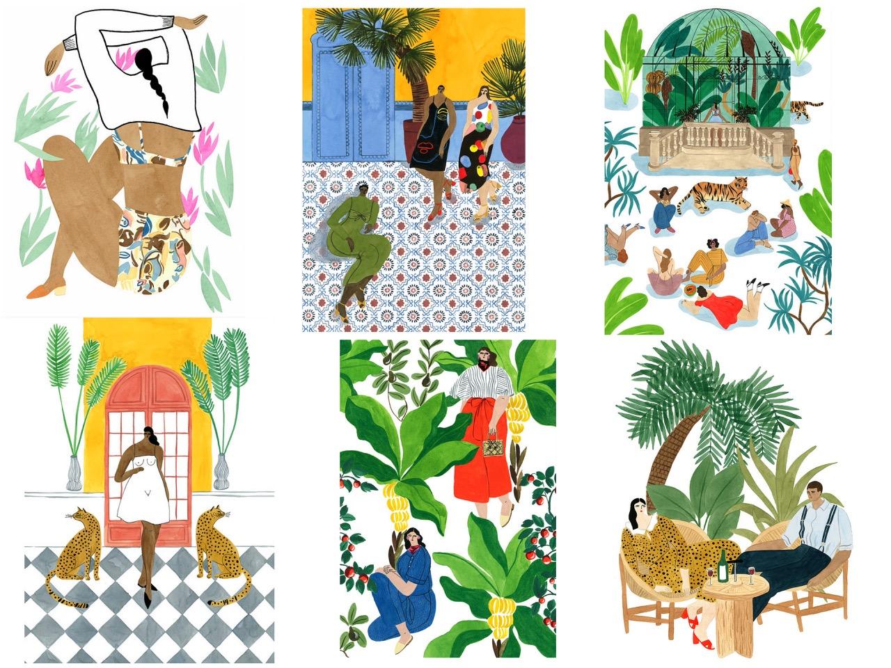 dessin,illustration,peinture,isabelle feiiu,artiste,peintre,hôtel manapany,saint-barth,françois champsaur,pastel,aquarelle,gouache