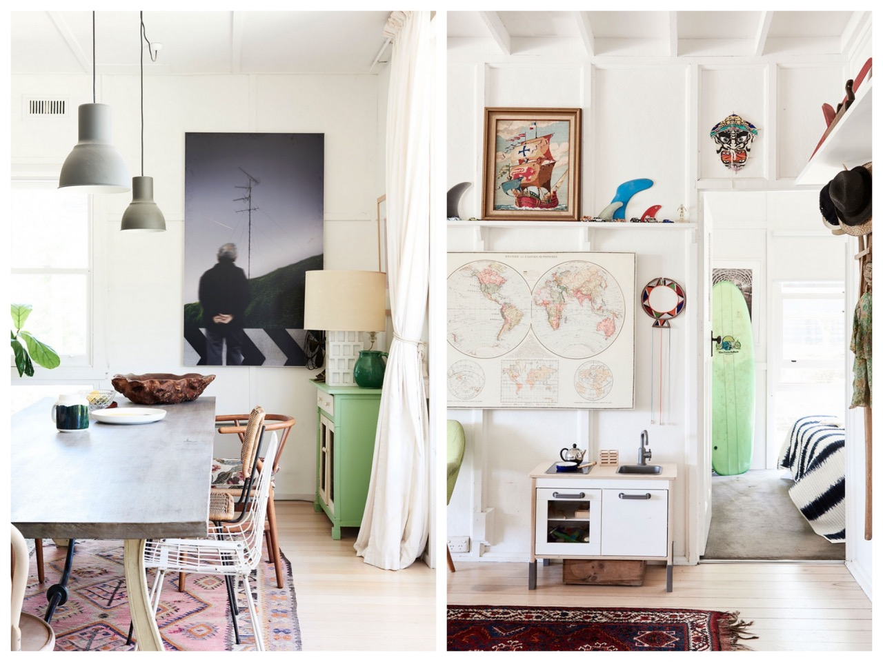 the design files,australie,mount martha,melbourne,beach,plage,beach bungalow,beach shack,maison de vacances,décoration,inspiration,surf shack