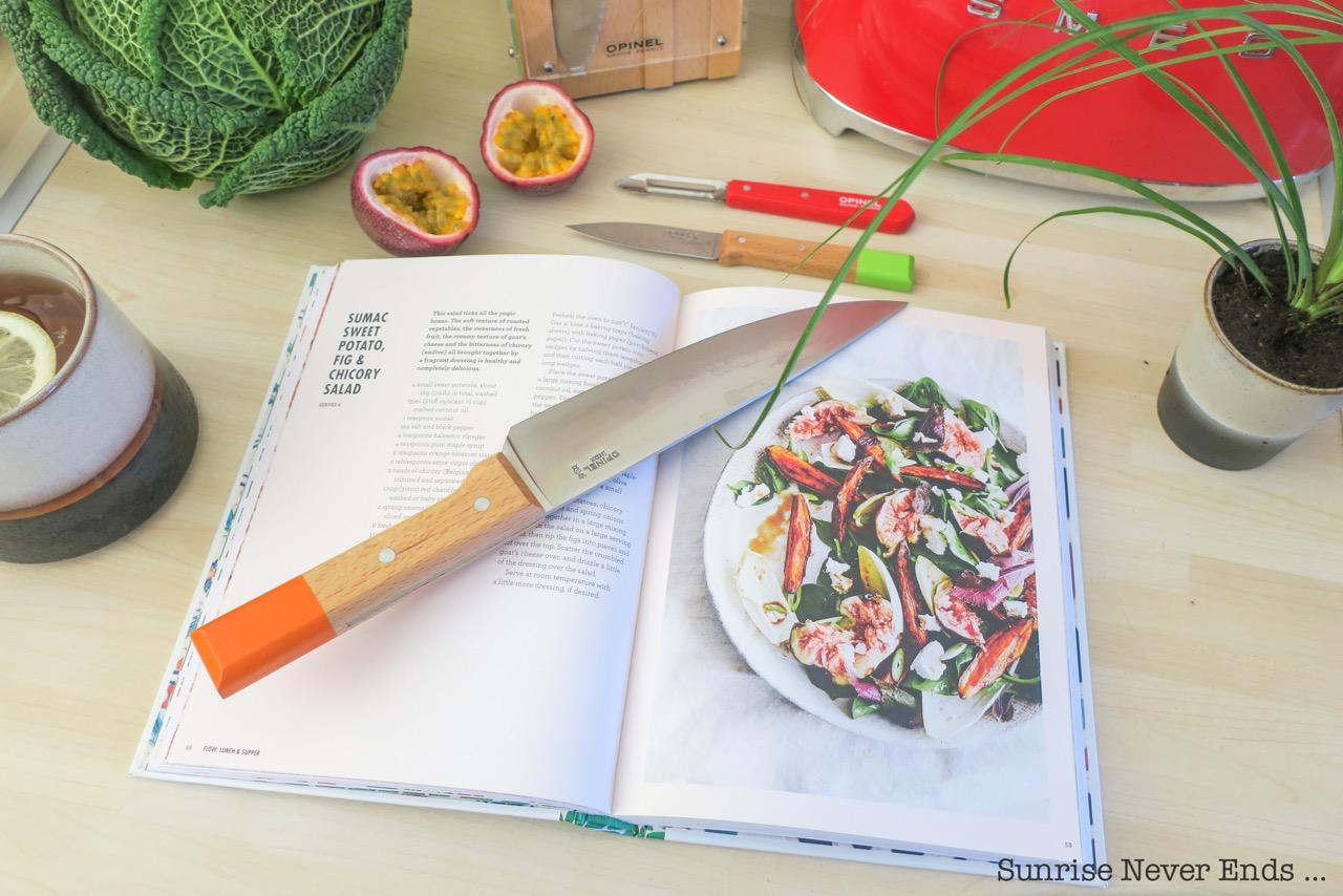 cuisine,cooking,yoga,the yoga kitchen book,kimberly parsons,ayurvédique,cuisine ayurvédique,bien-être,wellness,detox,alimentation,healthy food,livre,opinel,couteaux,smeg,electroménager