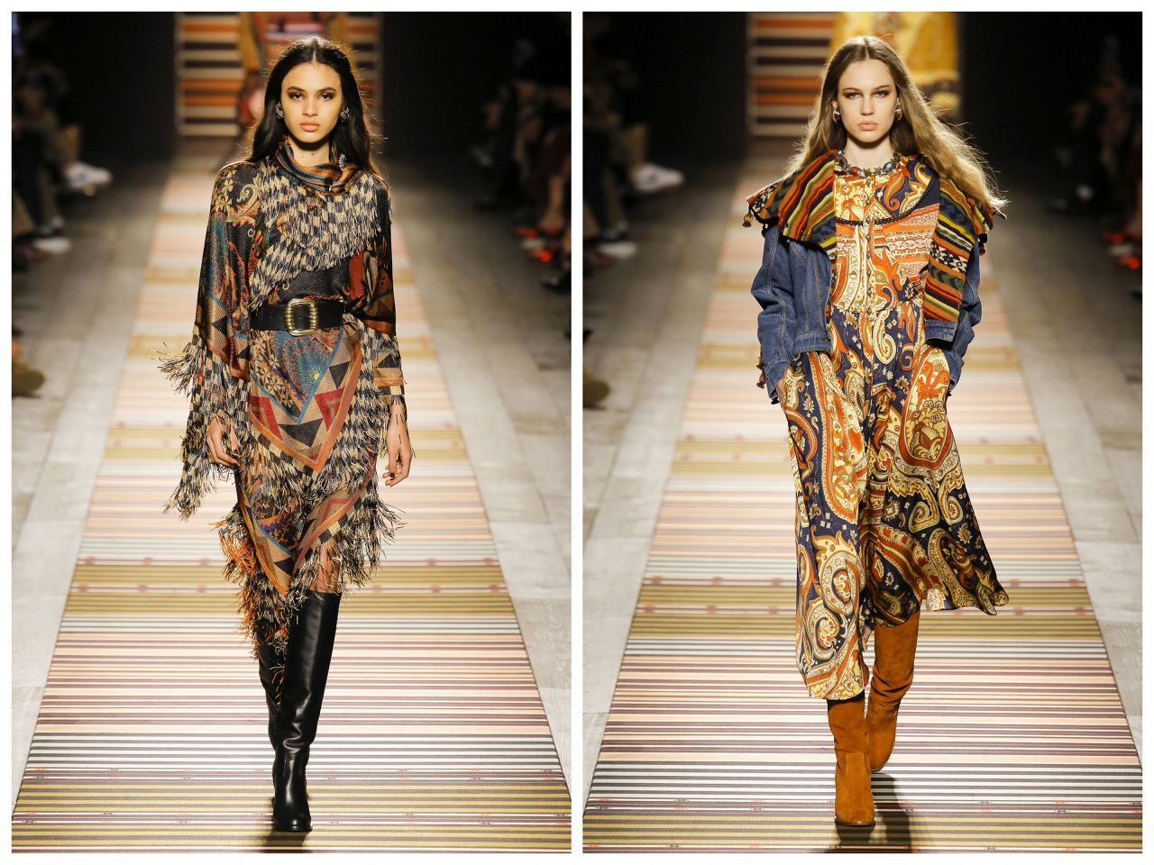 etro,mode,fashion,fashion week,milan,hiver 19,winter 18,bohemian,boho style