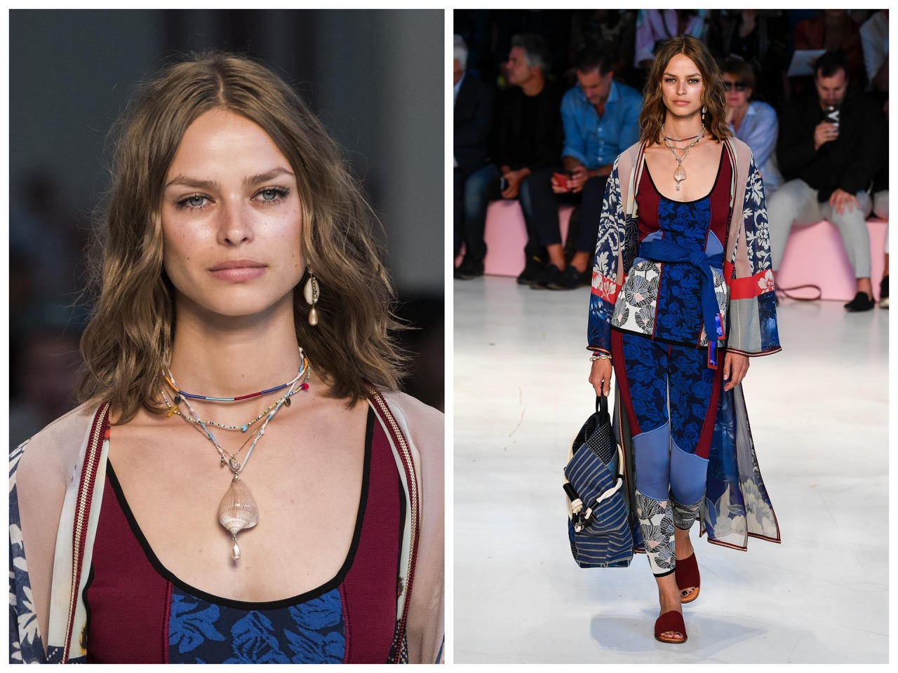 metro,summer,printemps été, 2019,mode,fashion,milan,MFW,maille,pacific zen,hawaii,japon,tropical,prints,paillé,cachemire,bijoux,coquillages,selles,jewels