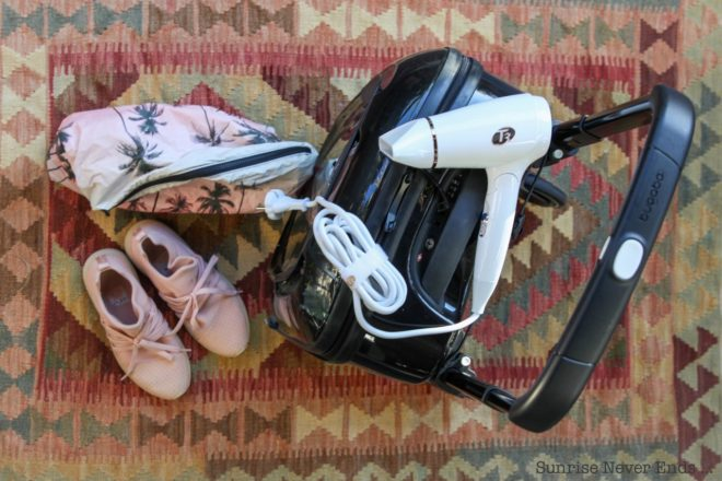 valise,packing,voyage,mode,beauté,wellness,C3,sèche-cheveux,californie,solar eyewear,samudra,palm trees,billabong,billabong women europe,EQ,salty spray,arkk copenhagen,bugaboo luggage,bugaboo,T3