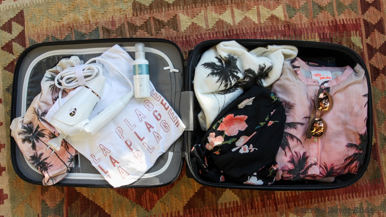 valise,packing,voyage,mode,beauté,wellness,C3,sèche-cheveux,californie,solar eyewear,samudra,palm trees,billabong,billabong women europe,EQ,salty spray,arkk copenhagen,bugaboo luggage,bugaboo,T3