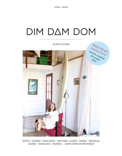dim dam dom,couverture,julie eye see,guéthary,eric maurus,atelier d'artiste,mode,déco,inspiration,magazine,couverture