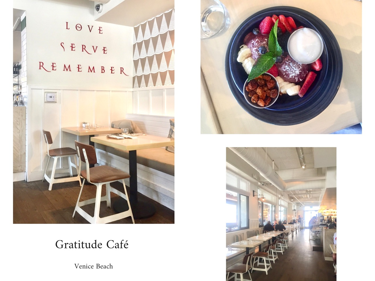 good spots,califronie,venice beach,travel,voyage,cartes postales,café gratitude,the butcher's daughter