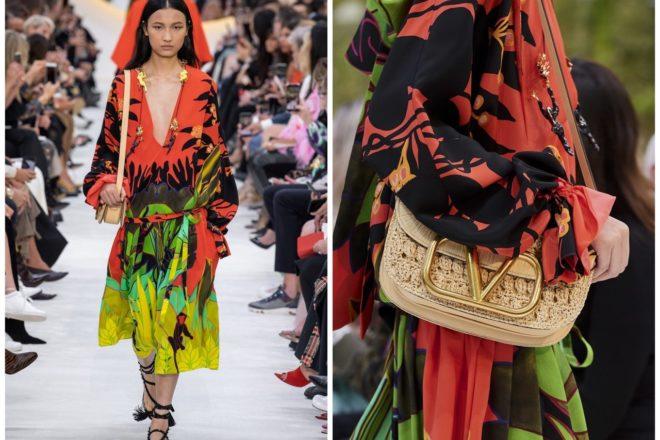 valentino,s20,fashion week,printemps été 2020,prêt-à-porter,paris fashion week,PFW,défilé,fashion,fashion show,fluo,douanier rousseau,jungle,singe