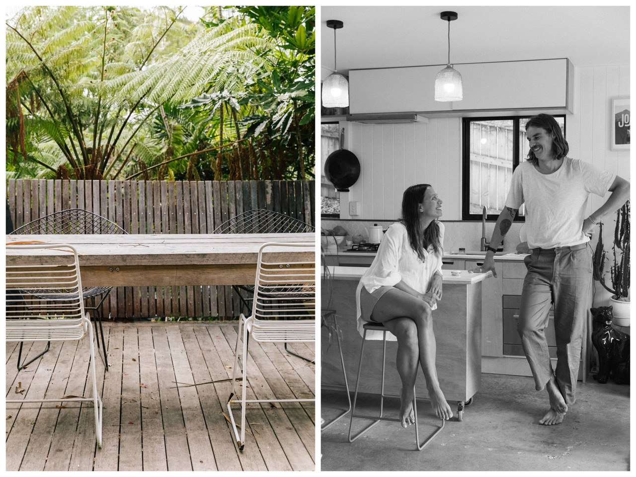 beach shack,surf shack,cabanon,maison,bungalow,bangalow,australie,byron bay,holly McCauley,décoration,family home,vintage,rotin,rattan,meubles en rotin,surf boards