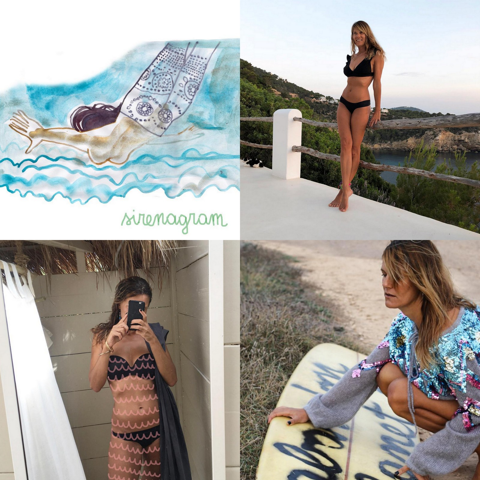 natalia resmini,dessins,illustration,les jolis dessins de,italie,surf,surfer girl, beach girl