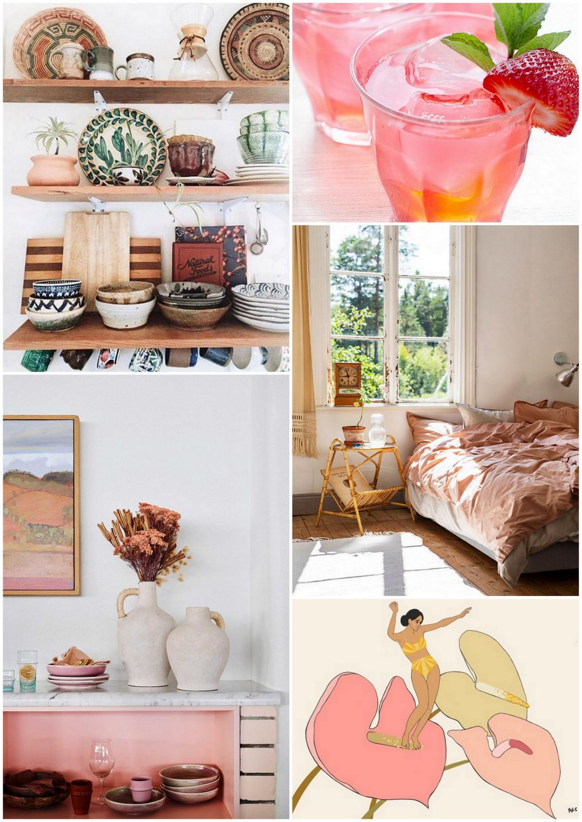 the mood,moldboard,l'impatience,émotions,réflexions,développement personnel,travail sur soi,terracotta,pink,couleurs