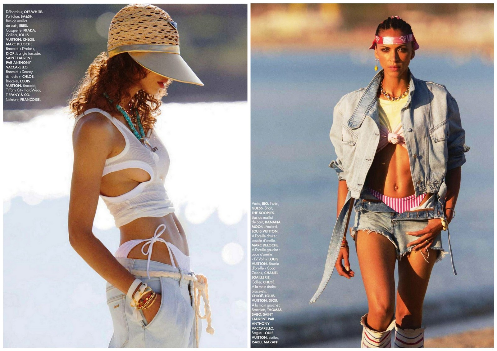 hans feurer,elle,photographe,mode,photographe de mode,iman,stephanie seymour,bikinis,bathing suits,maillot de bain,noème lenoir